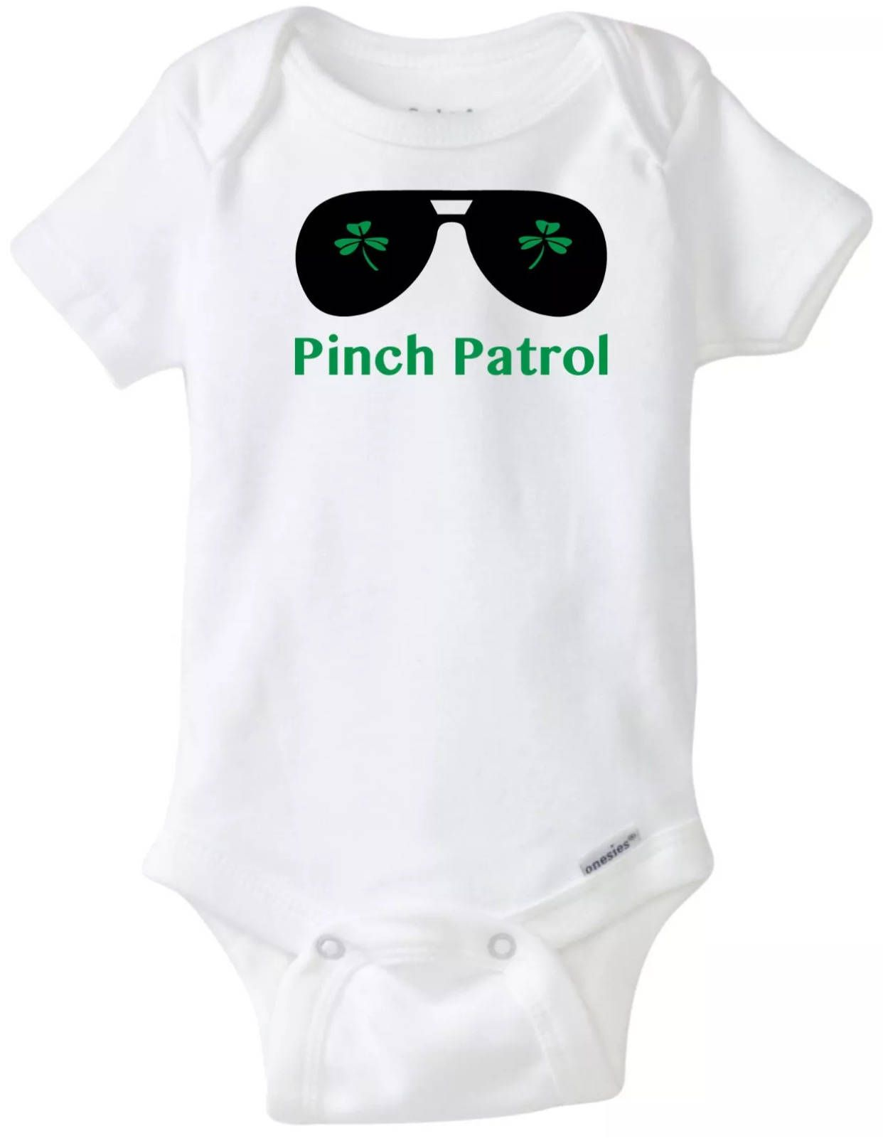 Pinch Patrol St Patrick s Day Funny Baby esie