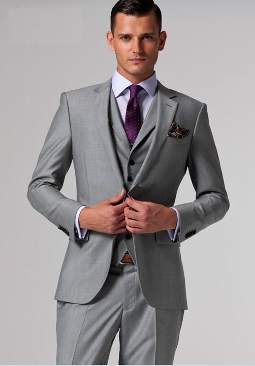 groomsmen wear own grey suits - Google Search | Groom/Groomsmen ...