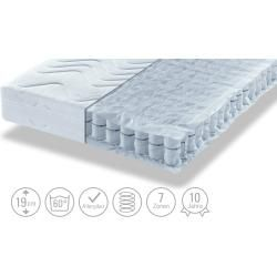Photo of Barrel pocket spring mattress – white – 140 cm – 19 cm – mattresses & slatted frames> mattress types>