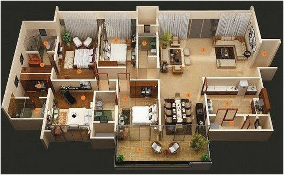 Desain Sketsa Denah Rumah Sederhana 3 Kamar Tidur Denah Rumah 4 Kamar Tidur Tata Letak Rumah Denah Rumah
