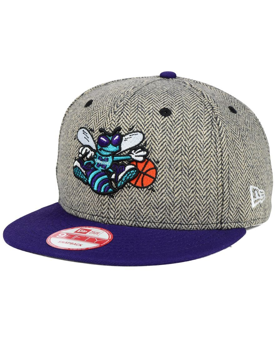 0935327ba17 New Era Charlotte Hornets Houndsteam Snapback Cap