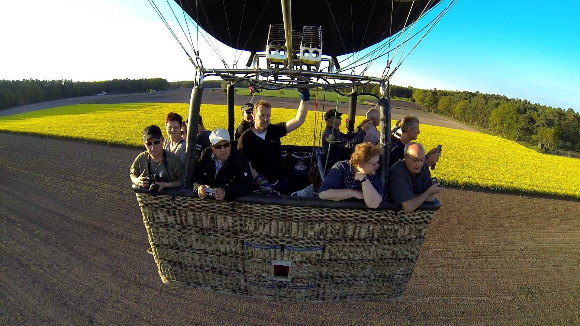 Der Heißluftballon D-OLAU fuhr quer durch die Kontrollzone des Nürnberger Flughafens.
