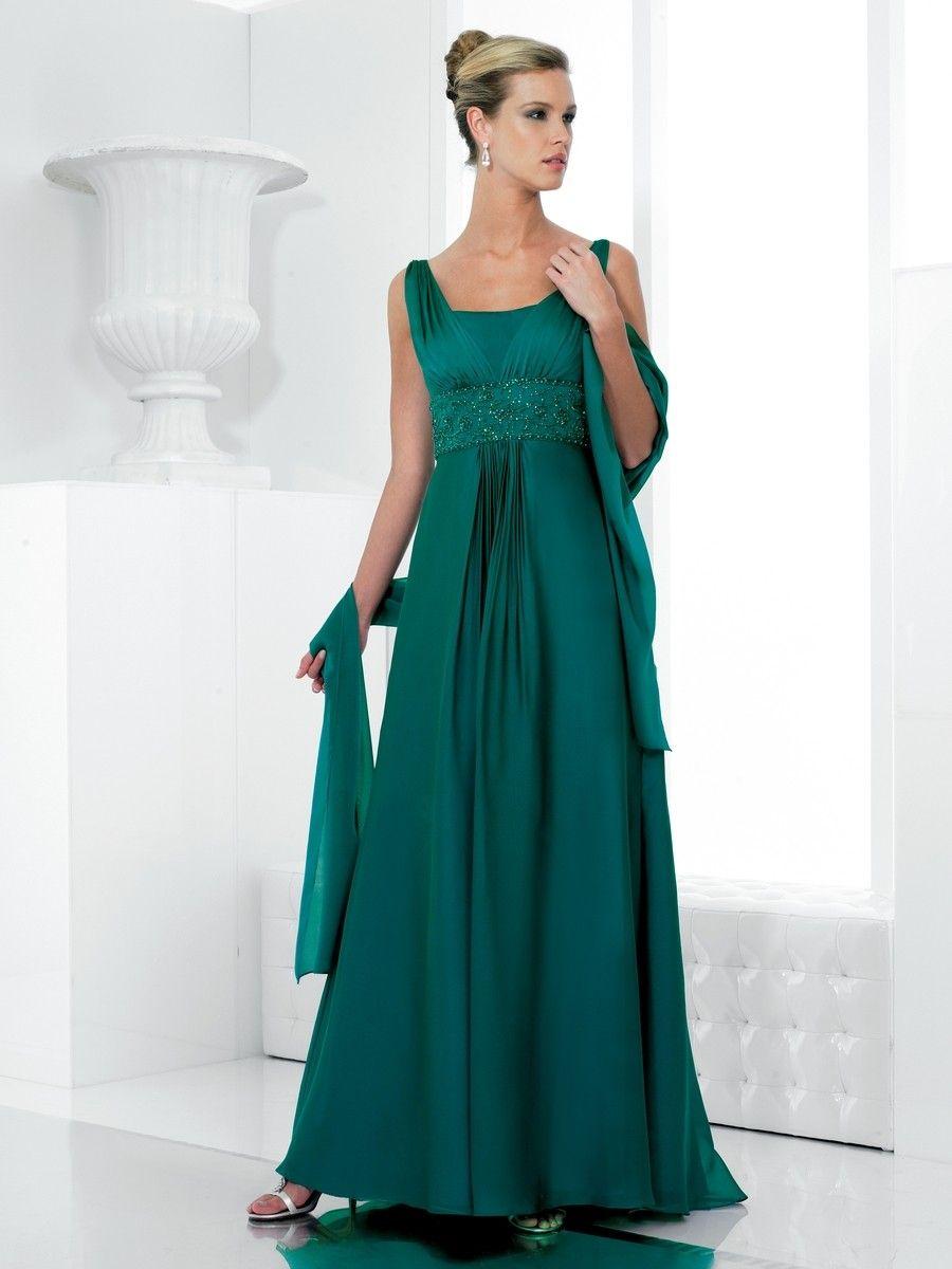 A-ligne V-cou robes demoiselle honneur en mousseline de soie - Robes ...