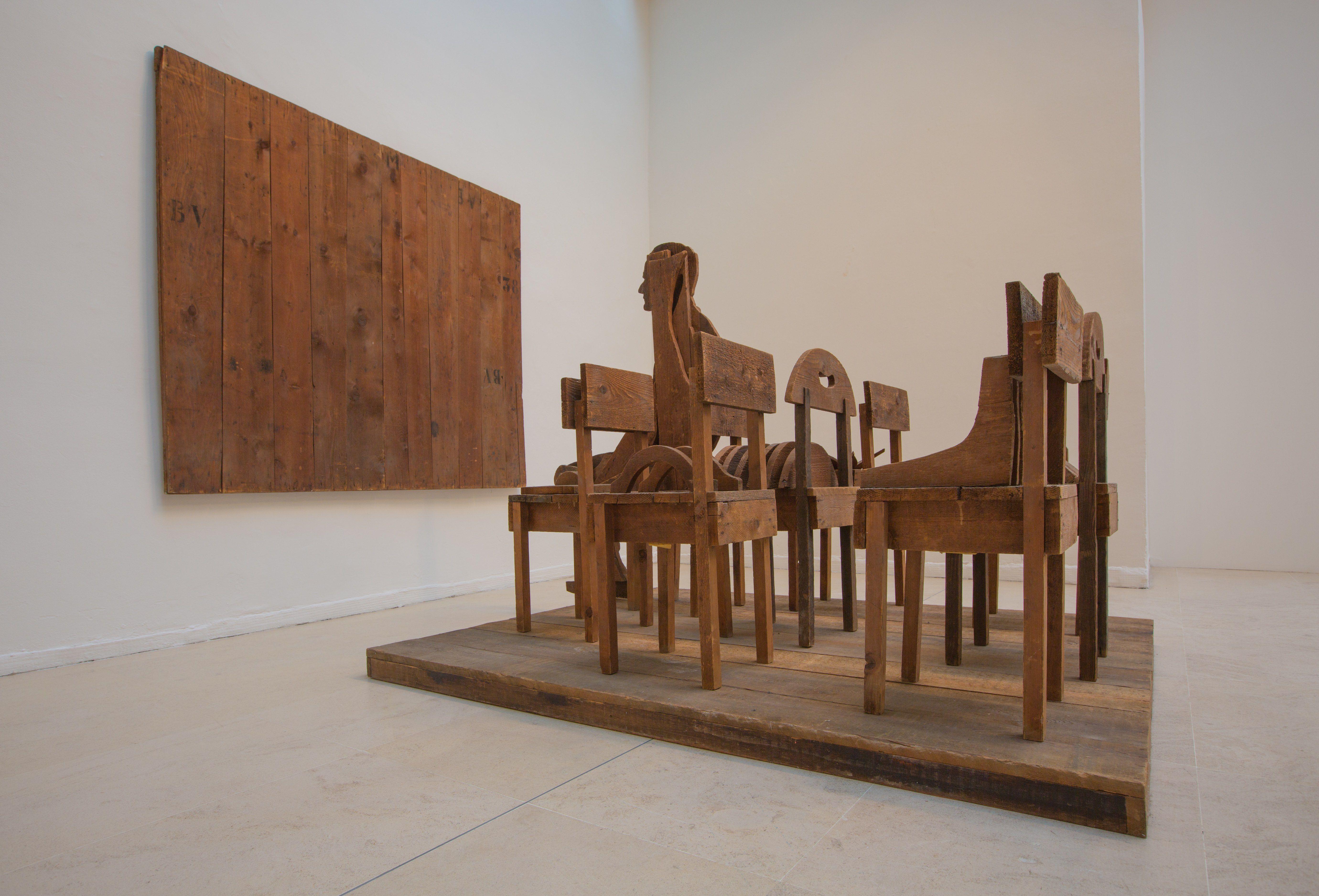 Mario Ceroli, Burri,1966 Tornabuoni Art - La Dolce Vita Courtesy Tornabuoni Art
