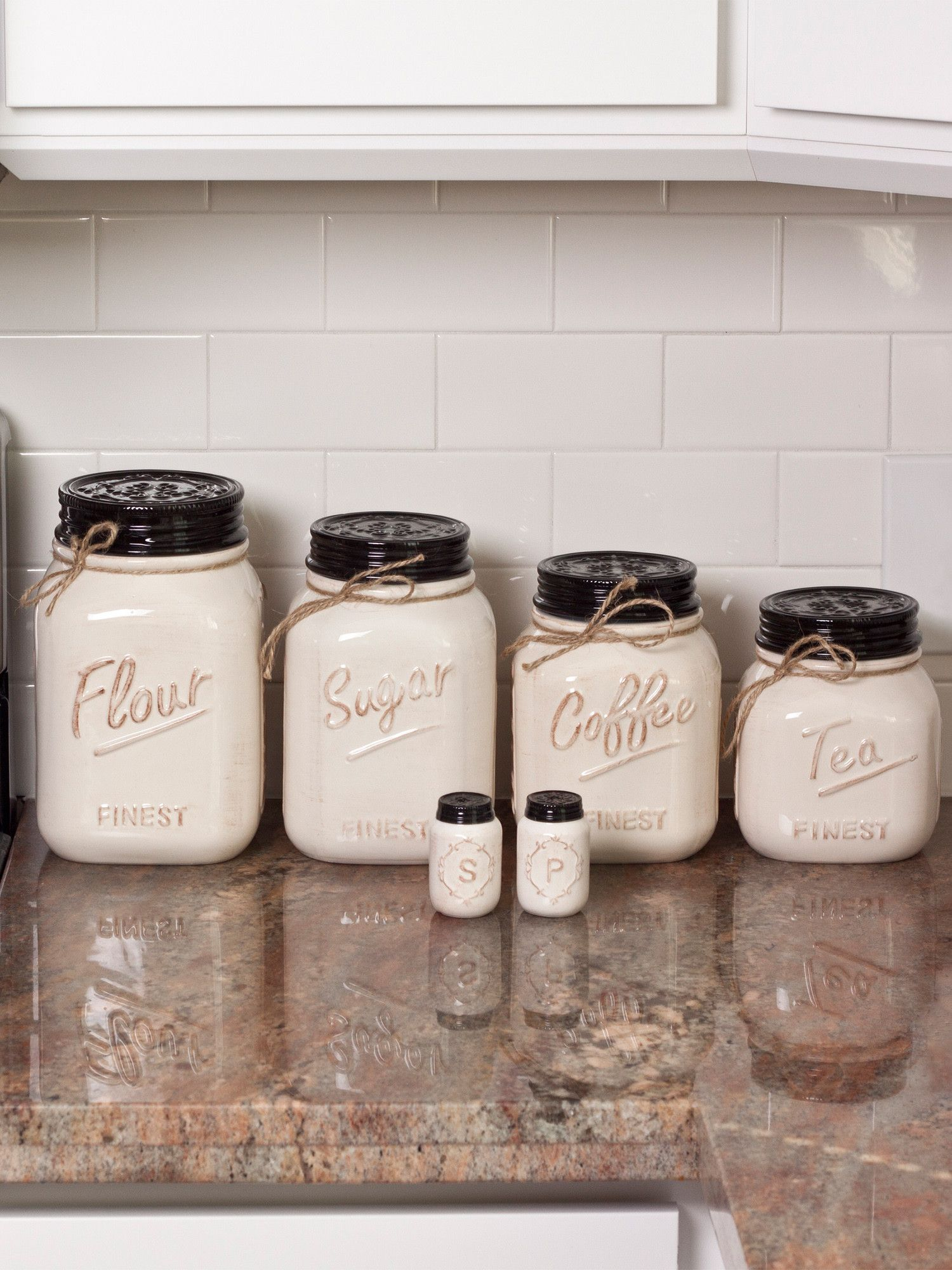 off white canister mason jar set of 4 canister sets and country off white canister mason jar set of 4