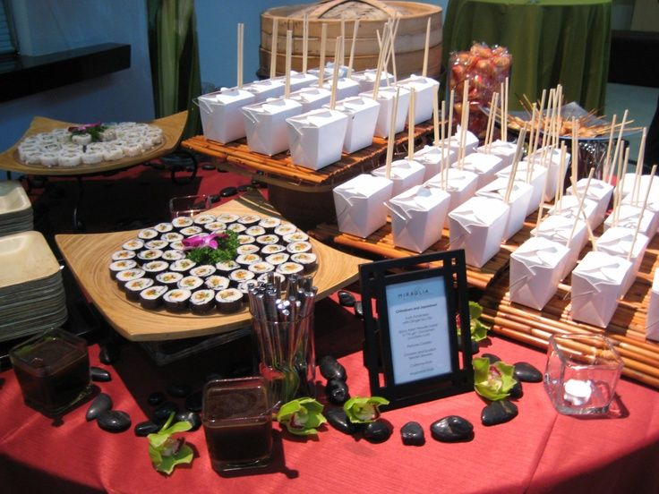 Asian Station Please With Images Party Food Bars Wedding