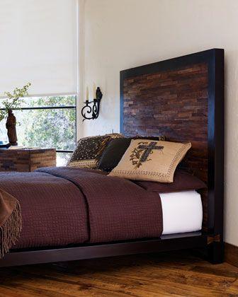 Peroba platform queen bed