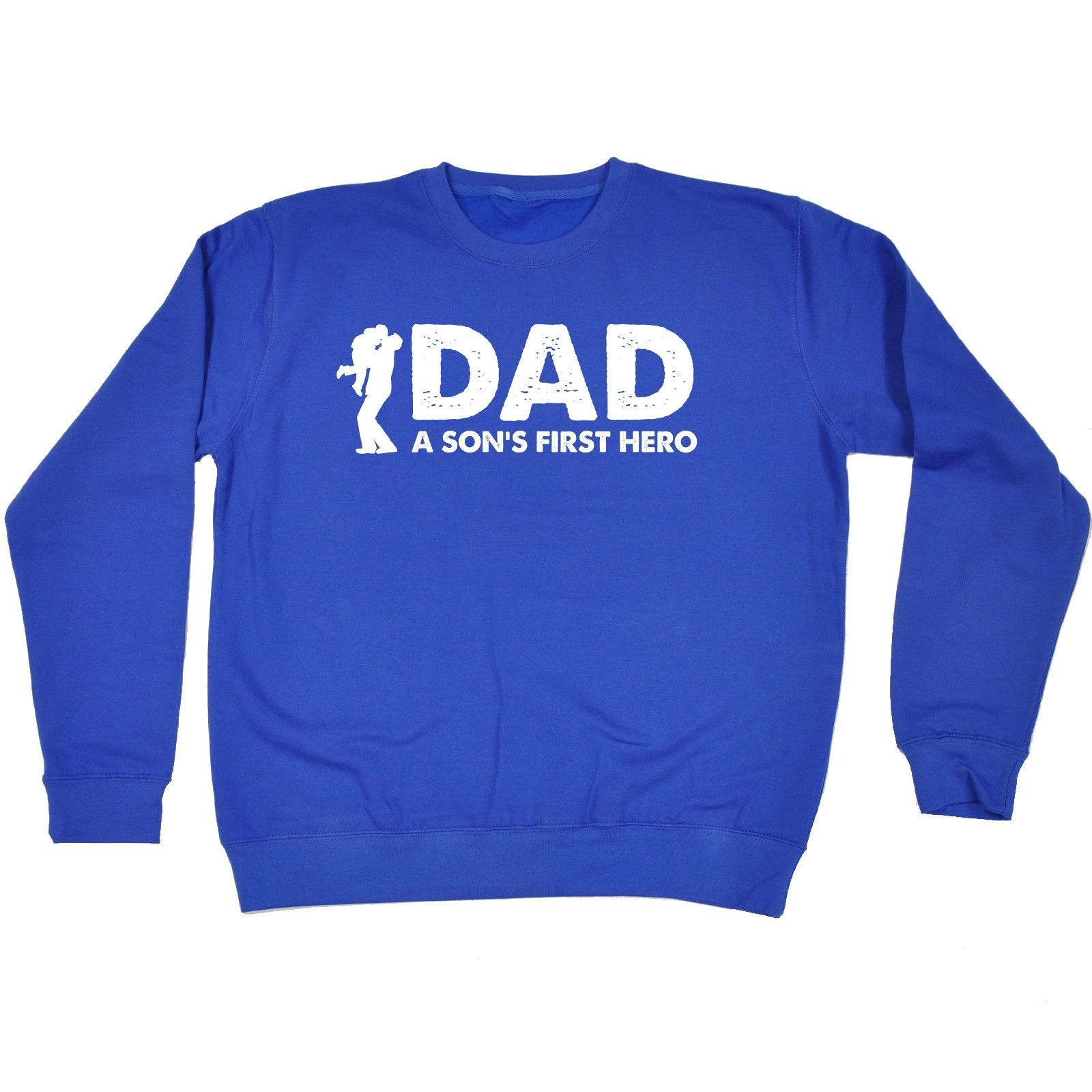 123t USA Dad A Son's First Hero Funny Sweatshirt