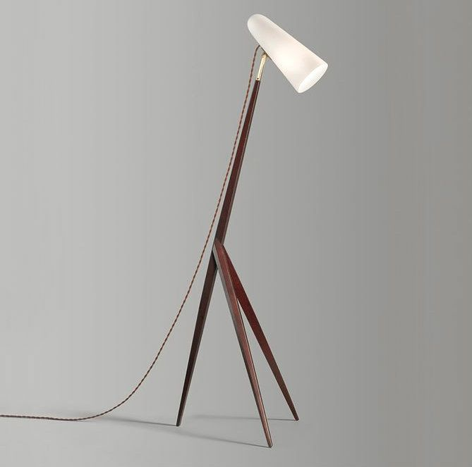 Wooden Floor Lamp Part - 37: Wooden Floor Lamps For A Mid-century Modern Home Design