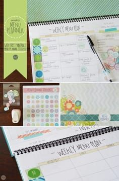 Free Weekly Menu Planner For The Entire Year  Spiral Notebook is part of Organization Calendar Menu Planning - Use these paid or free menu planning templates and this tutorial on how to make a menu planner that you can use for all three meals for the whole year