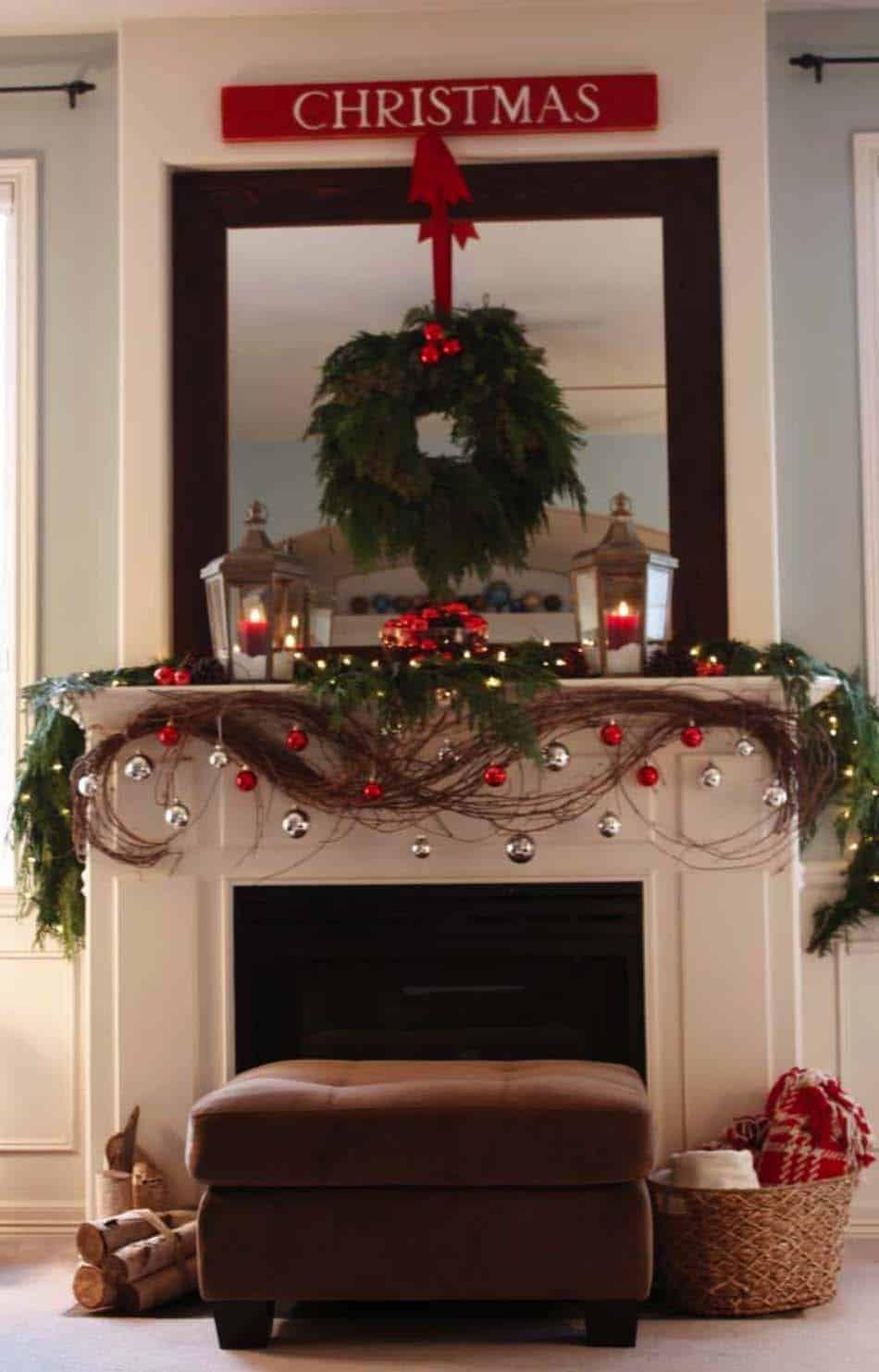 50 Absolutely Fabulous Christmas Mantel Decorating Ideas Christmas Mantel Decorations Christmas Fireplace Christmas Mantels