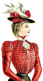 As ladies' hats grew wider and increasingly plate-like during the 1890s, crowns and brims were literally heaped with complex arrangements of bows, flowers and plumage – so much so that it is difficult to find an image of a fashionable late-Victorian hat that doesn't feature feathers, wings or a whole bird.