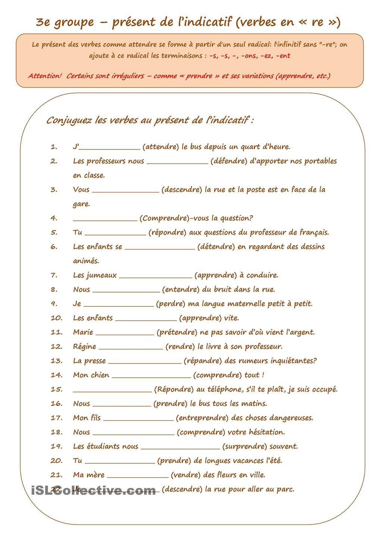 Epingle Sur Cours De Francais
