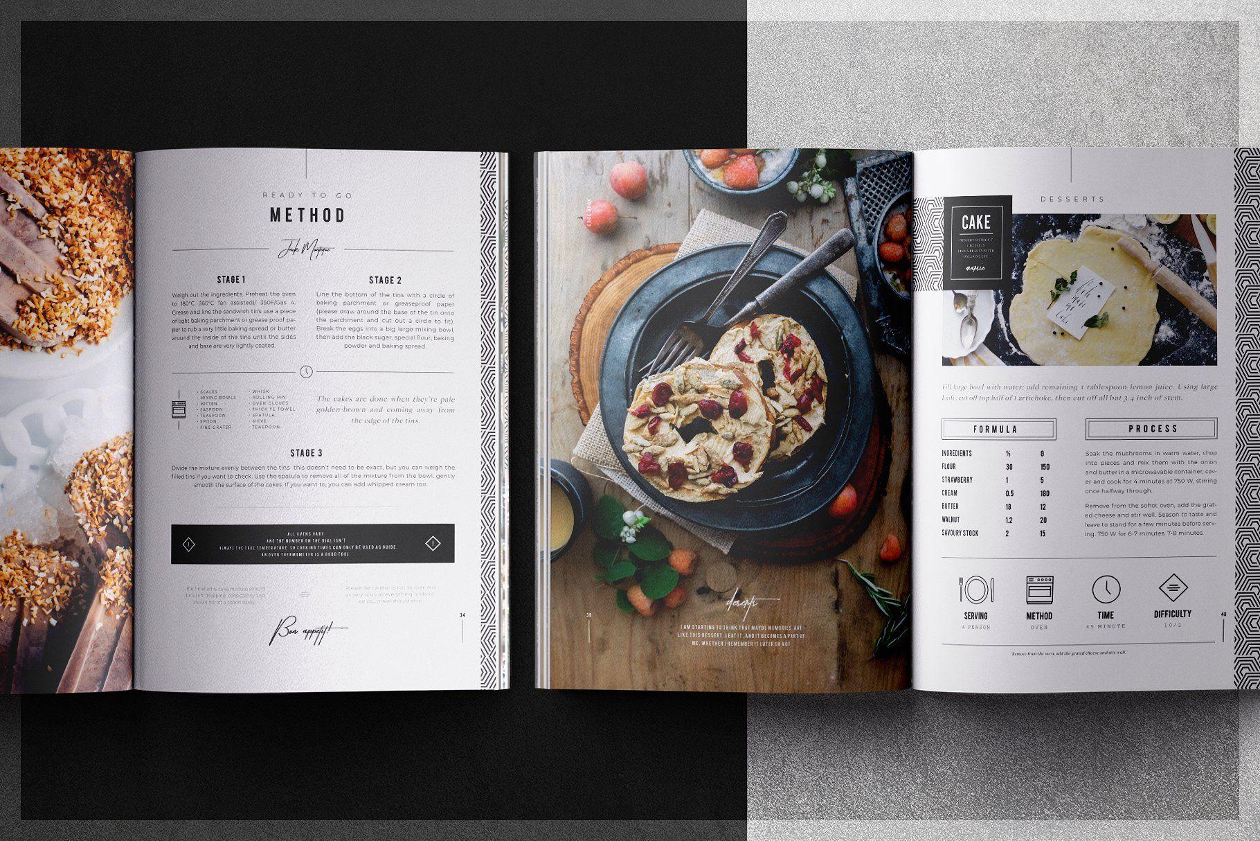 Cookbook Recipe Book Recipe Book Design Cookbook Template Cookbook Design