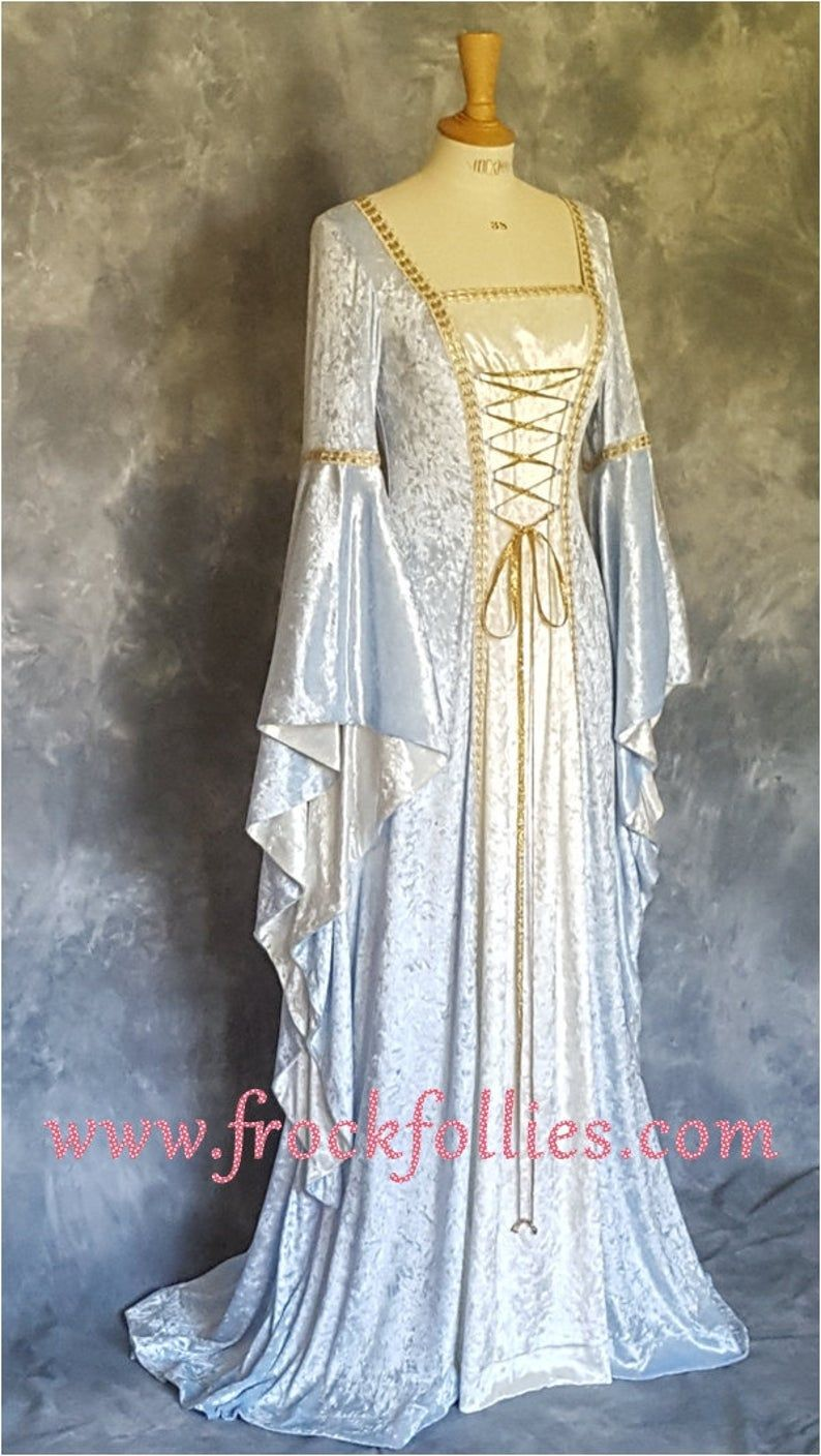 Alexandra, a Medieval, Elvish, Pagan Custom Made Handfasting Dress