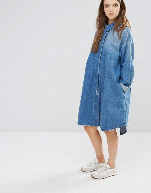 Waven Sigvor Denim Shirt Dress