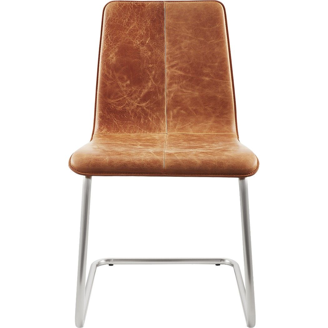 Shop Pony Leather Chair. Iconic Breuer Style, Nickel Plated Base Gives A