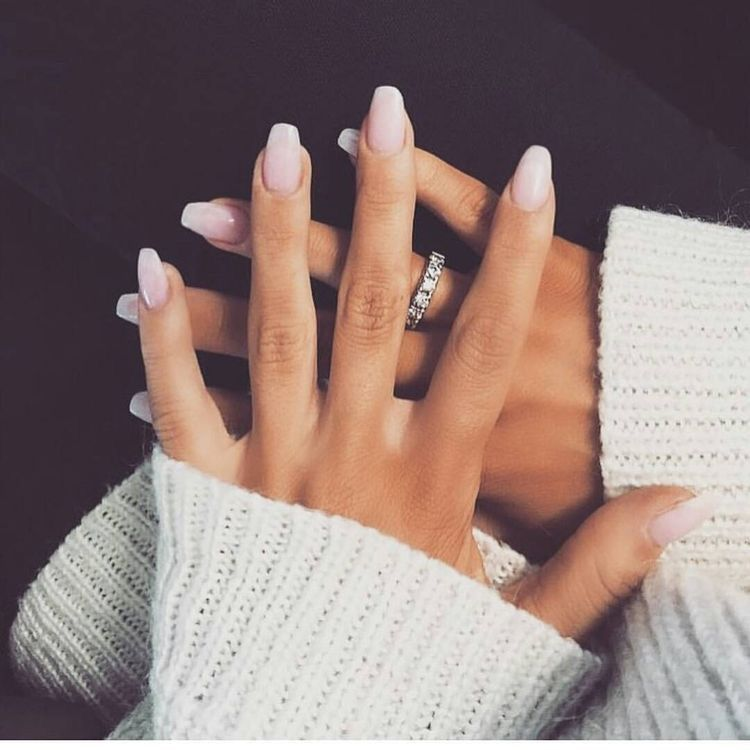 11 Trendy Easy Nail Art Ideas Designs 2017 Pale Pink To White Ombre