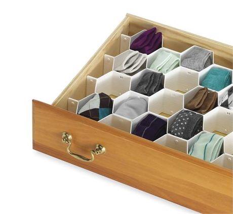Organizador medias ropa interior corbatas y mas almacenaje pinterest recamara cajones - Organizador de ropa interior ...
