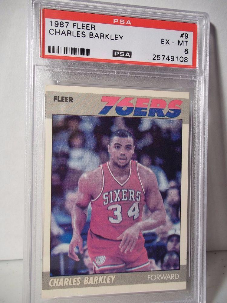 1987 fleer charles barkley psa exmt 6 basketball card 9