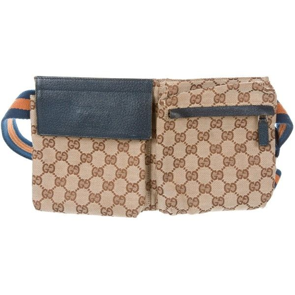af670b7b548 Pre-owned Gucci GG Canvas Waist Bag ( 525) ❤ liked on Polyvore featuring  bags