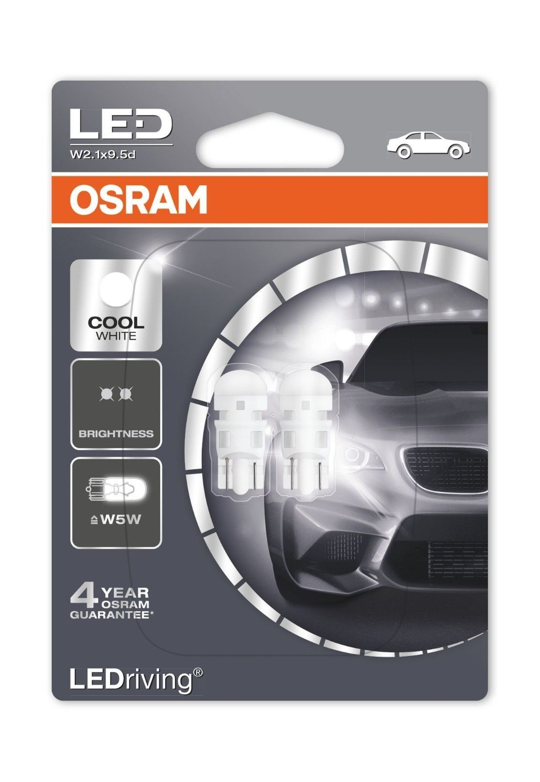 Details About Osram W5w 501 T10 Led 6000k Cold White Car Interior
