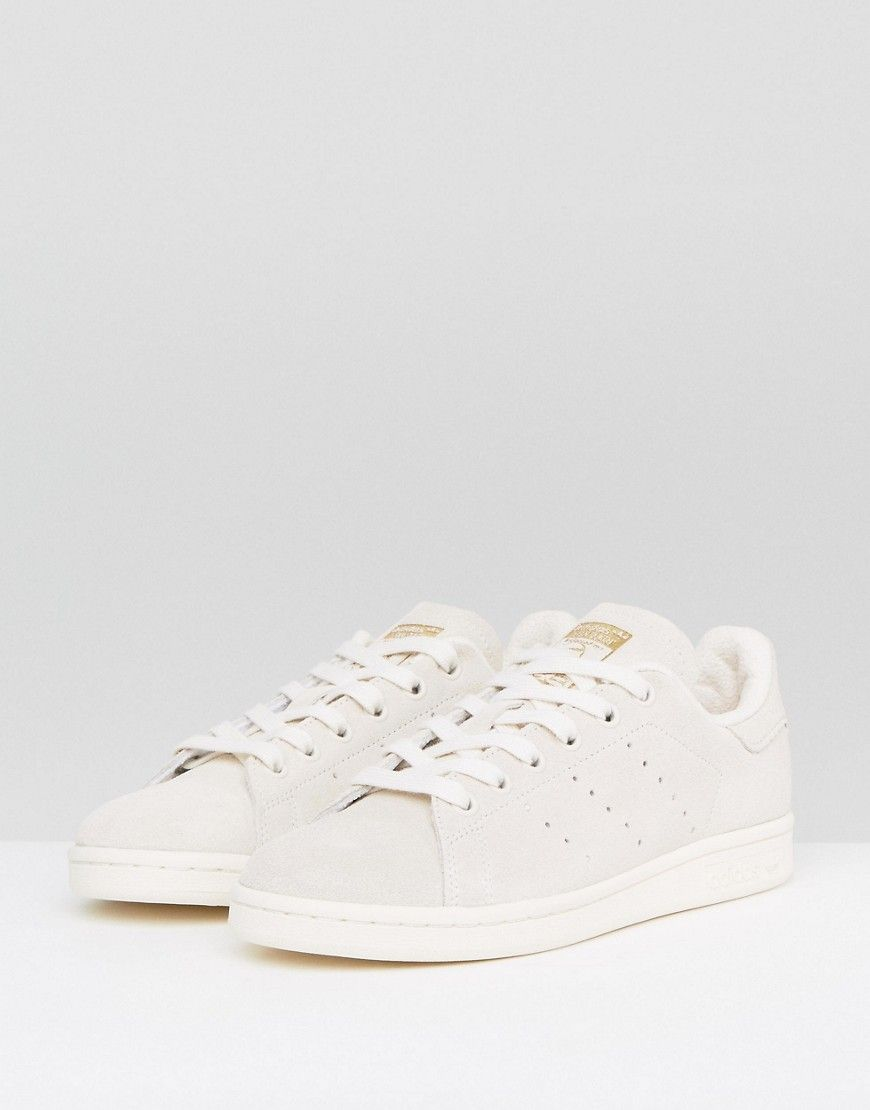 adidas originali biancastro scamosciato stan smith scarpe, scarpe bianche