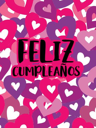 Lovely Happy Birthday Card In Spanish