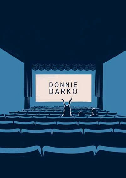 Donnie Darko minimalist film print | Custom art movie poster #filmposters