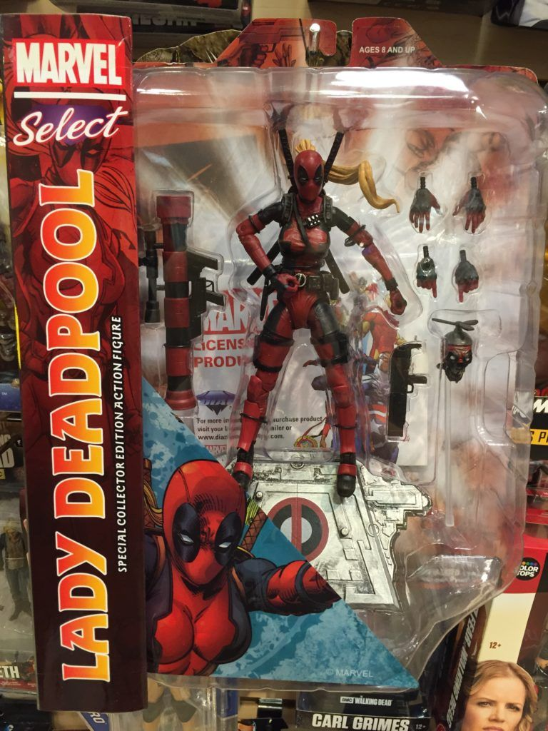 Marvel Select Lady Deadpool Figure Packaged | MARVEL TOYS