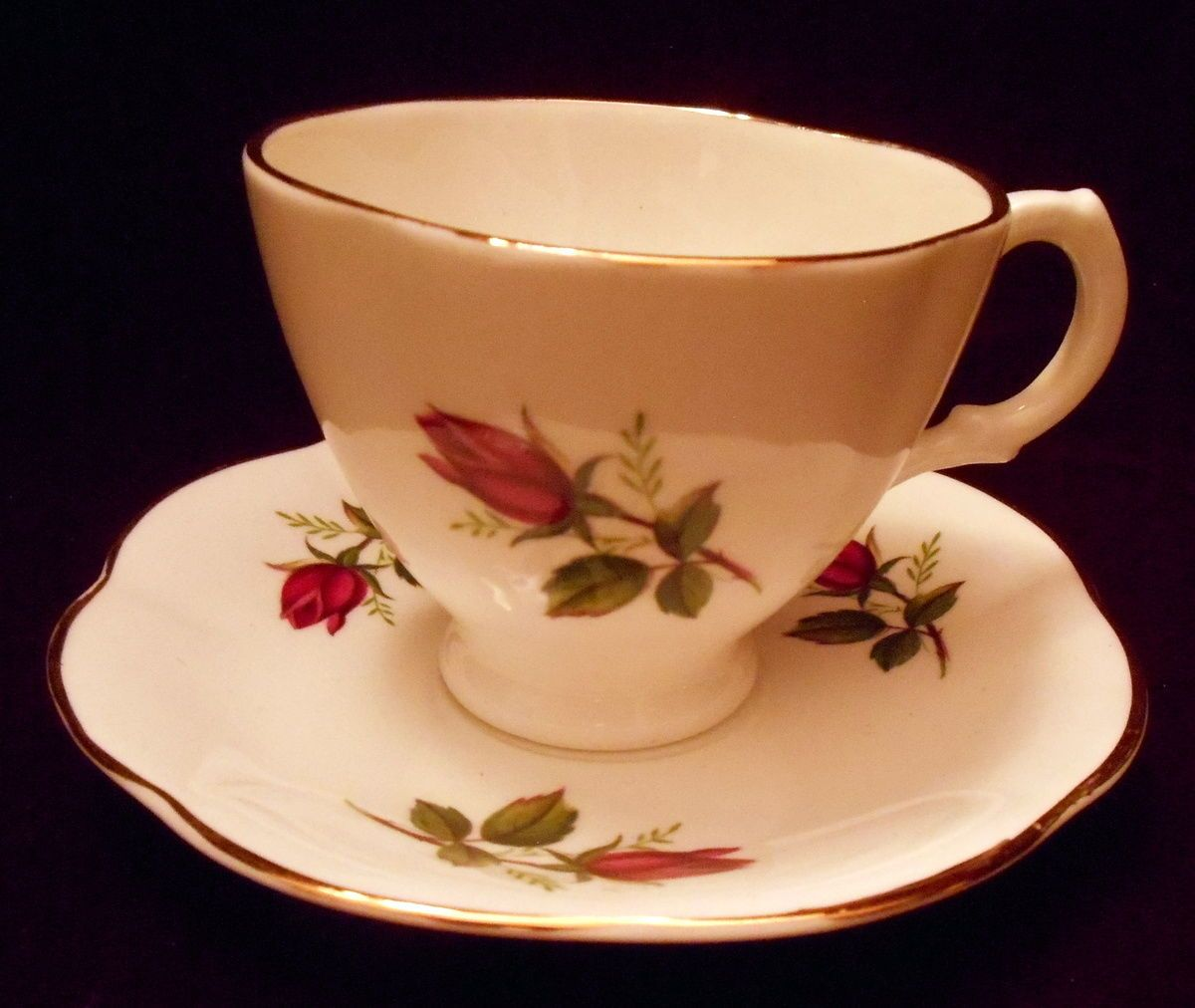 Royal #stuart #spencer #stevenson tea cup & saucer bone china england red rose bu,  View more on the LINK: 	http://www.zeppy.io/product/gb/2/371715793843/