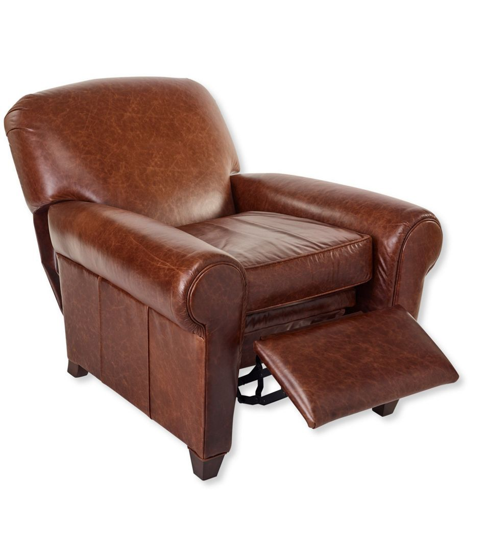 L L Bean Leather Lodge Recliner Recliner Leather Recliner Statement Chairs