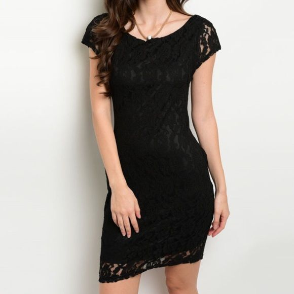 New black lace dress 90% cotton, 10% polyester  MODEL IS WEARING THE EXACT PRODUCT   Also available in white Dresses Mini