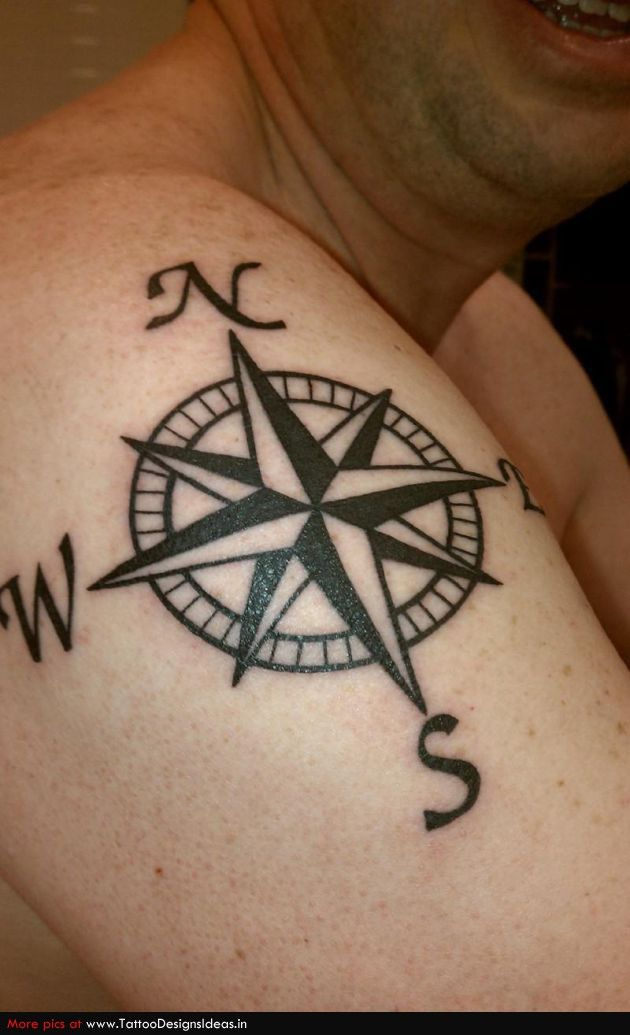 Compass Tattoos Designs On Inner Arm For Men And Women