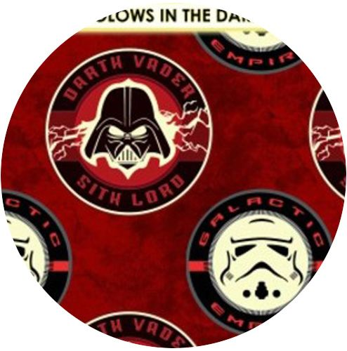 Camelot Cottons Star Wars The Dark Side Sith Lord Red Star