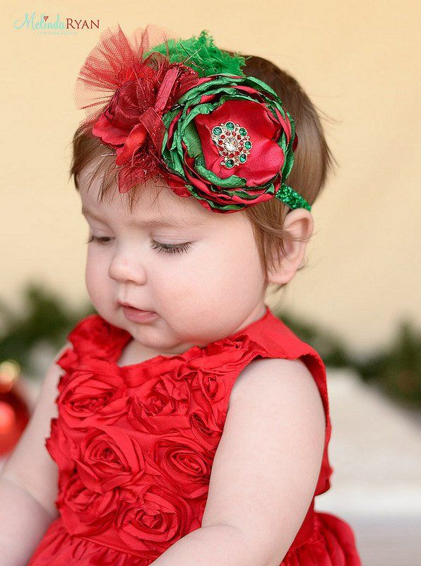 Red /& Gold Headband Infant Headband Red Bow Red Baby Headband Baby Headband Valentines Headband Baby Girl Headband Christmas Headband