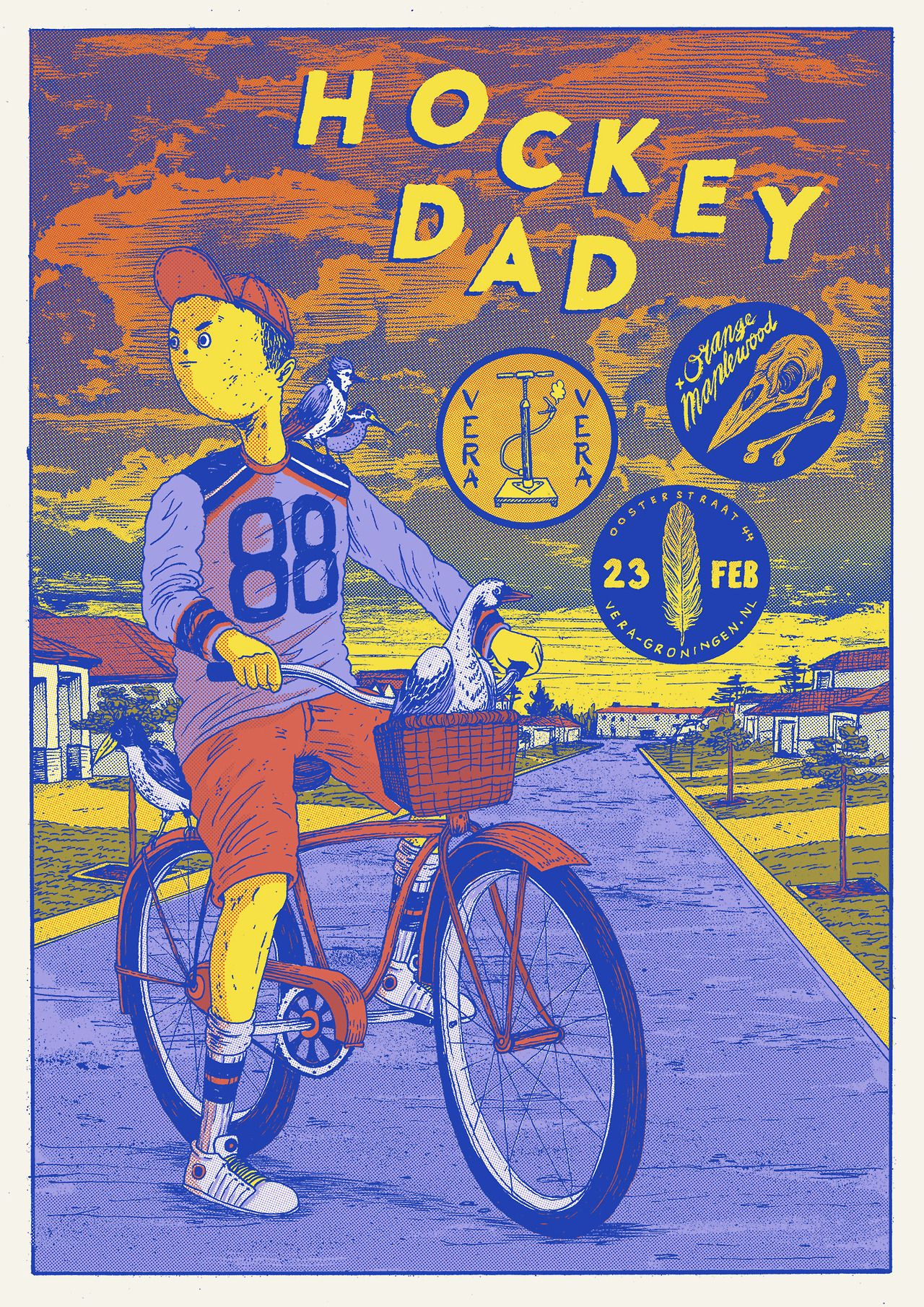 New Poster For Hockey Dad Orange Maplewood 23 02 Music Poster Design Band Posters Retro Poster