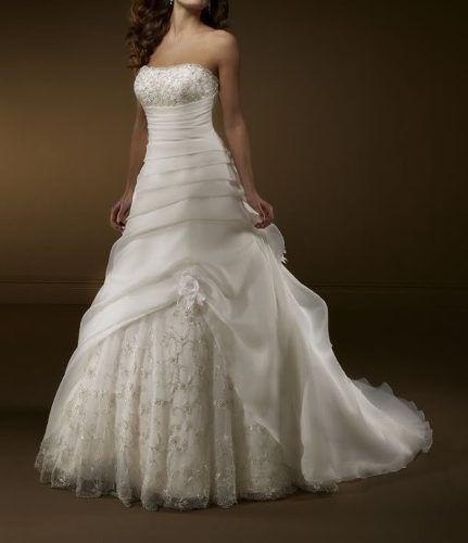 e294a5fe51 hermoso vestido de novia strapless boda amor corte imperio