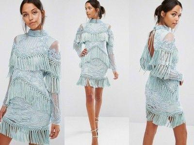 105a00482 A Star Is Born Zdobiona Sukienka 34 6678080793 Oficjalne Archiwum Allegro Sweater Dress Dresses With Sleeves Long Sleeve Dress