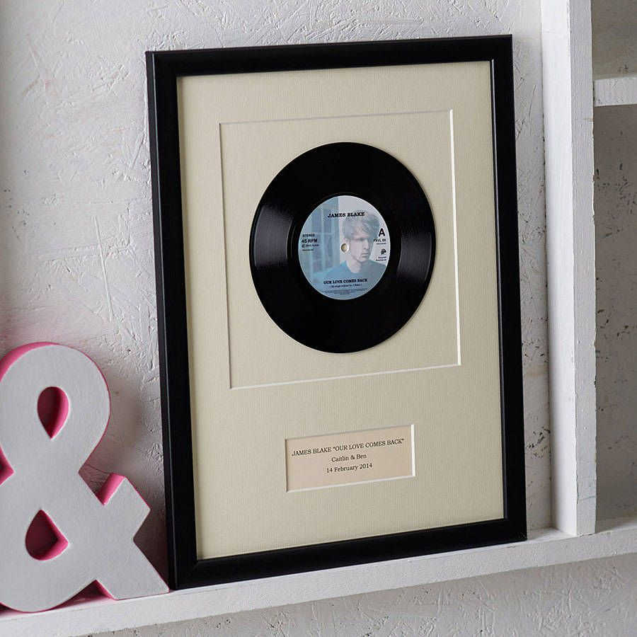 Personalised Framed Vinyl Record | Projects to Try in 2019