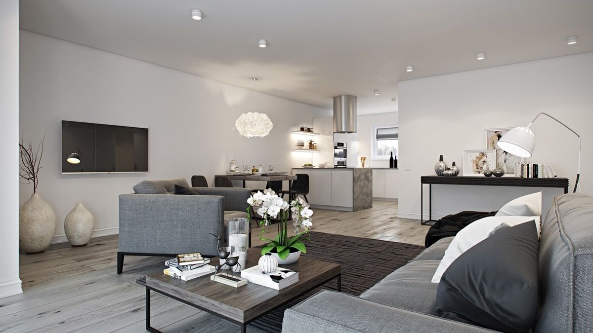 The Best Open Plan Interior Designs Which Applied With Fashionable