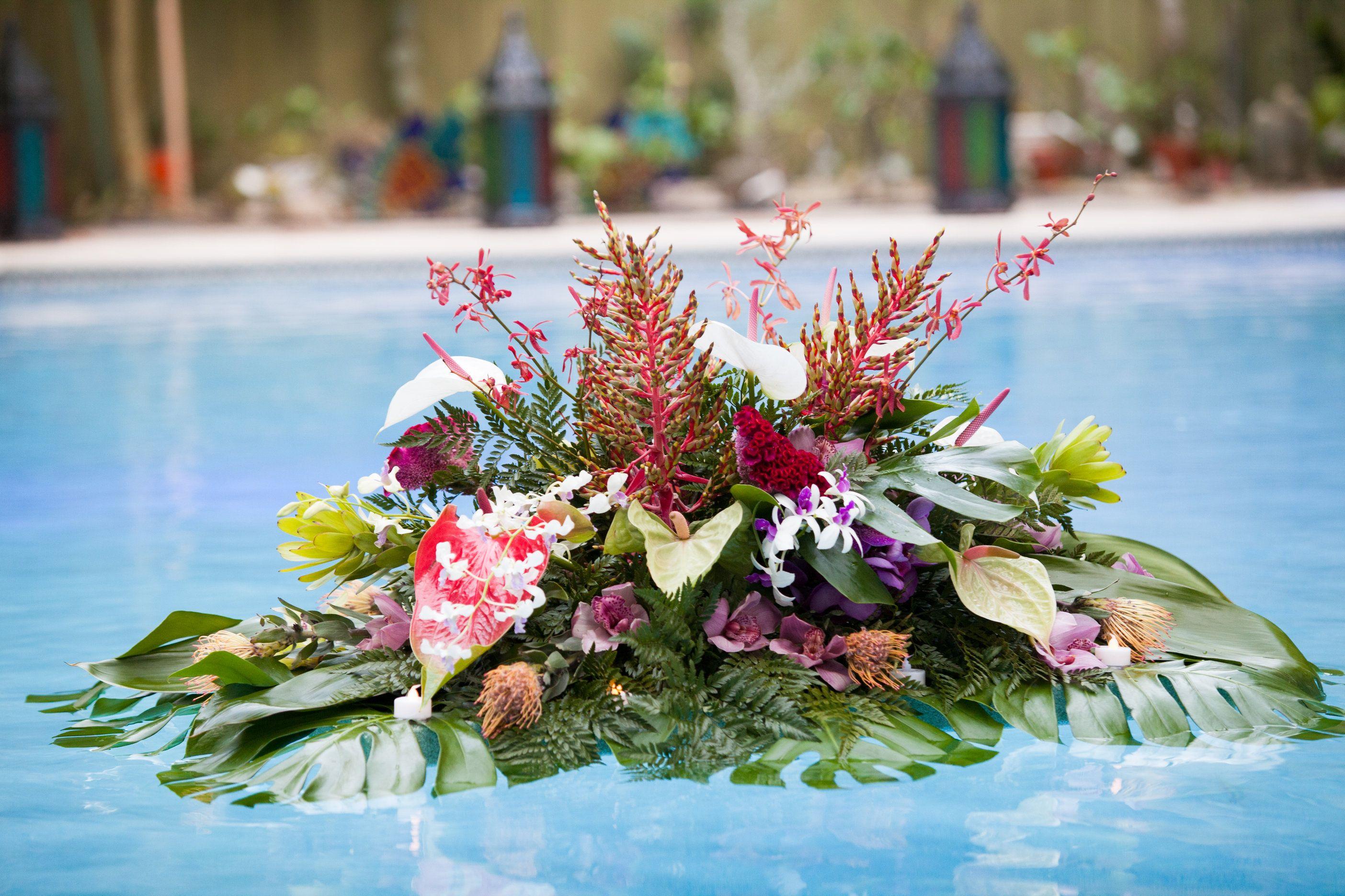 60th birthday celebration floating flower arrangements