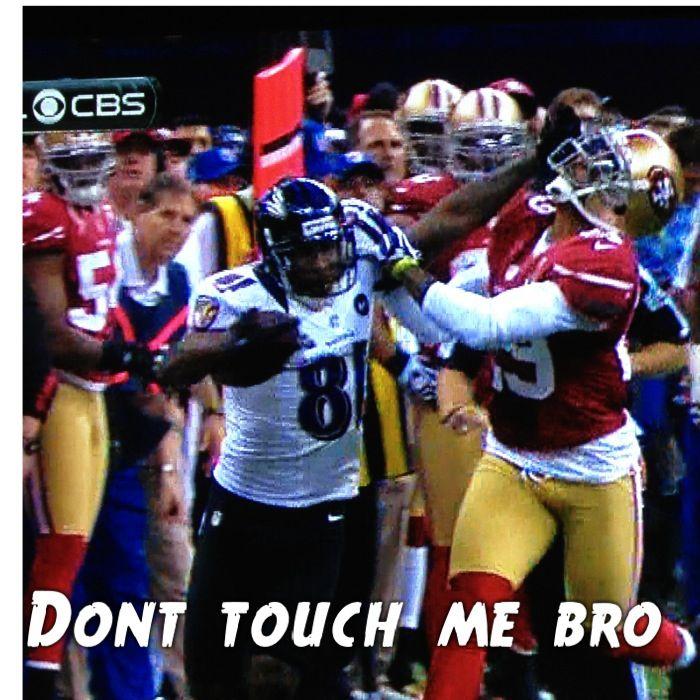 Superbowl Stiff Arm Dont Touch Me Super Bowl Sports