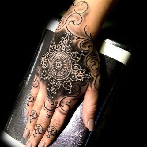 Baroque Tattoos Tattoos Full Hand Tattoo Hand Tattoos