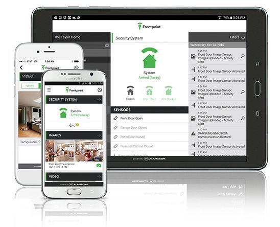 Frontpoint Home Security App Cluster Communication, App
