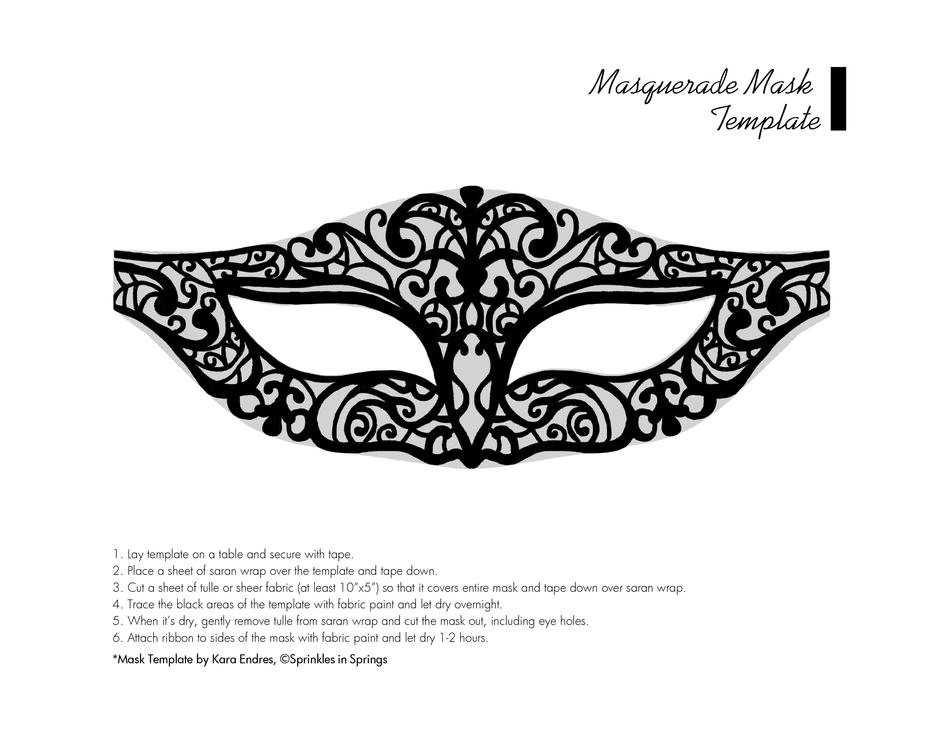 Chic Masquerade DIY Mask & Template Sprinkles in