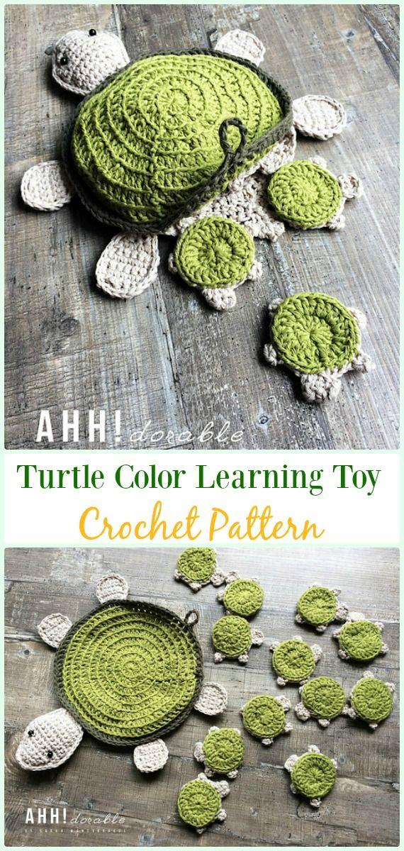 Crochet Amigurumi Turtle Color Learning Toy Paid Pattern-#Crochet ...