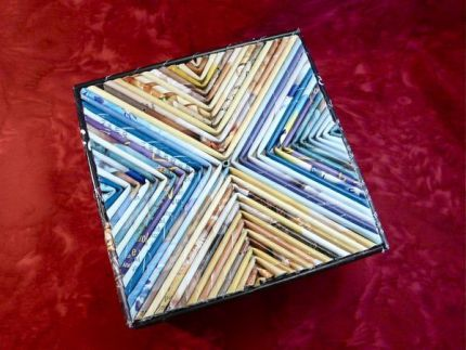 Cajas de adornos tubos de revistas