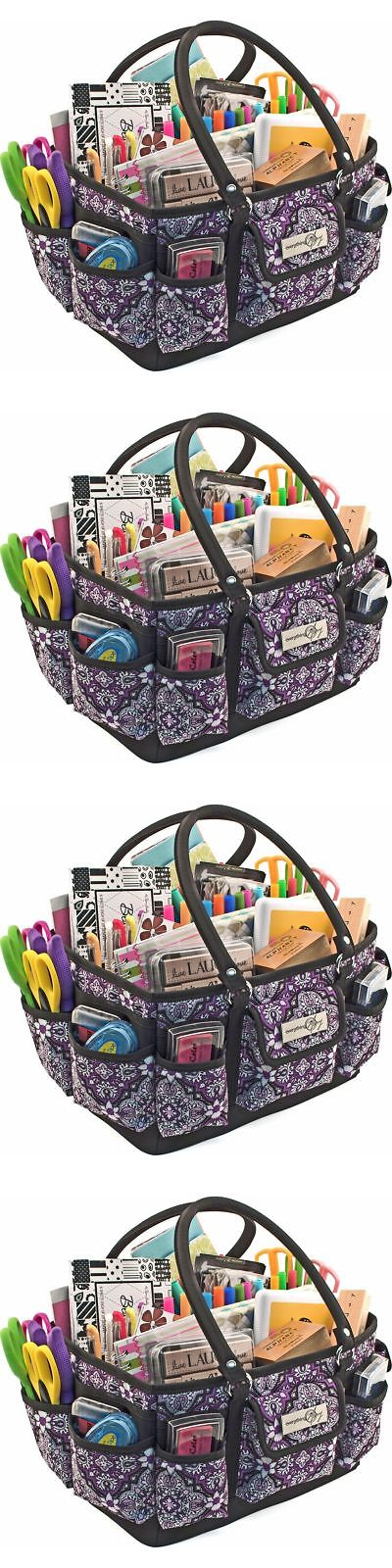 ba43b4aeb2 Scrapbooking Totes 146401  Craft Storage Tote Organizer Bag Scrapbook Art  Case Supplies Sewing Travel Sew -  BUY IT NOW ONLY   39.01 on eBay!
