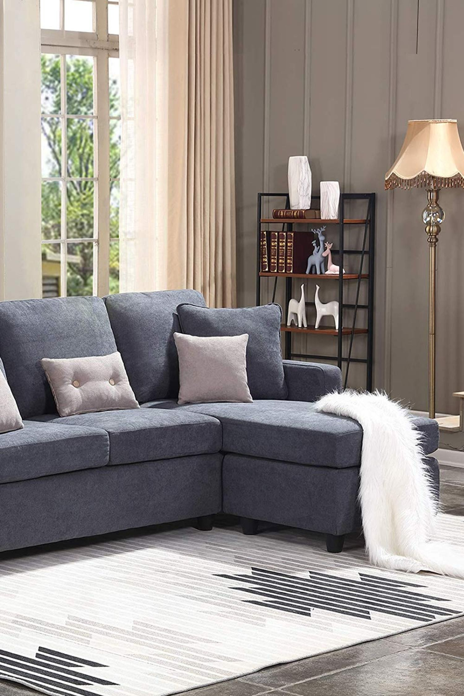 Honbay Convertible Sectional Sofa Couch L Shaped Couch With Modern Linen Fabric For Small Space Sectional Sofa Couch Sectional Sofa Couch Design